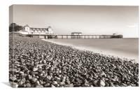 Penarth Pier Long Exposure 2 Mono, Canvas Print