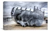 Merchant Seafarers War Memorial Cardiff Bay, Canvas Print
