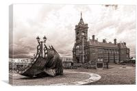 Cardiff Bay Mono, Canvas Print