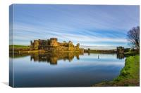Caerphilly Castle Long Exposure 2, Canvas Print