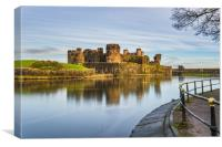 Caerphilly Castle Long Exposure 3, Canvas Print