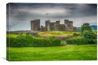 Caerphilly Castle East View 2, Canvas Print