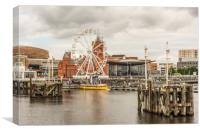 Ferris Wheel At The Bay, Canvas Print