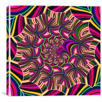 X Fractal Supreme, Canvas Print