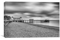 Moody Penarth Pier 1, Canvas Print