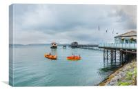 Little Rowers At Mumbles Pier, Canvas Print