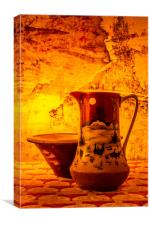 Wash Bowl And Pitcher, Canvas Print