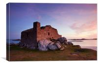 Dawn Light On The Blockhouse., Canvas Print