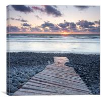 Bideford Bay Sunset, Canvas Print