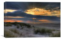 Ainsdale Sunset, Canvas Print
