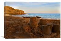 Last Sandcastle, Canvas Print