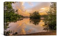 Hollow Pond Sunrise, Canvas Print