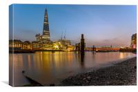 The Shard at Dusk, Canvas Print