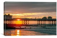 Sunset Cromer, Canvas Print