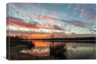 Sunset on Great Broad, Canvas Print