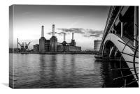 Battersea Power Station (B&W02), Canvas Print