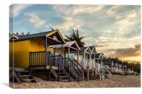 Beach Huts at Sunset, Canvas Print