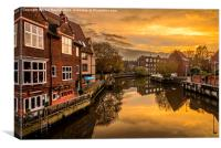 Sunset by the River, Canvas Print