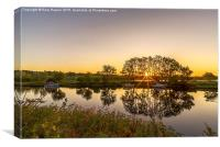 Norfolk Broads Sunrise, Canvas Print