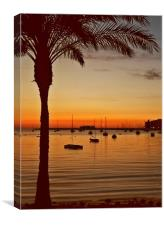 Sunset in Ibiza, Canvas Print