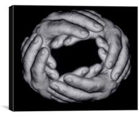 Ring of Hands. , Canvas Print