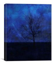 Lonely with the Blues, Canvas Print