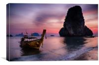 Railay Beach, Krabi, Canvas Print