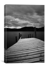Jetty over water, Canvas Print