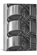 Abstract of Lloyds building, London, Canvas Print