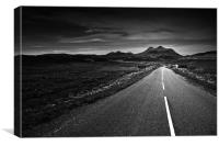 the road to Torridon, Canvas Print