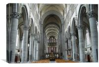 inside St Martin's Cathedral Ypres, Canvas Print