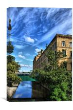 near salts mill saltaire west yorkshire, Canvas Print