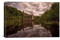 Gibson mills south pennines , Canvas Print