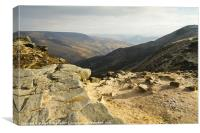 Grindsbrook Clough, Kinder Scout, Canvas Print