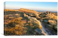 Kinder Scout In Autumn, Canvas Print