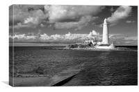 St Mary's black and white, Canvas Print