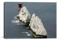 The Lighthouse at the Needles, Canvas Print