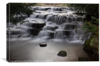 Waterfall at Carshalton Ponds, Surrey, Canvas Print