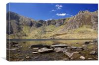 Llyn Idwal and the Glyders, Canvas Print