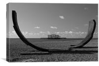 Passacaglia and West Pier, Brighton, Canvas Print