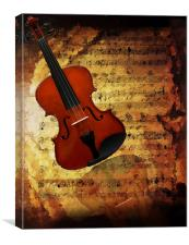 Reflections in Music, Canvas Print