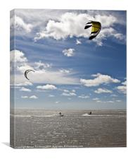 Summer Kite Surfing, Canvas Print