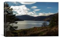 Sunny Winters Day at Haweswater, Canvas Print