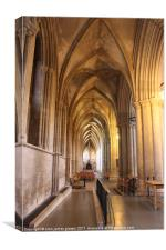 st albans cathedral hallway, Canvas Print