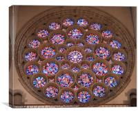 st albans cathedral glass panel, Canvas Print