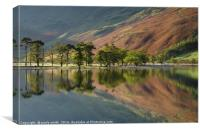 Buttermere in Autumn , Canvas Print