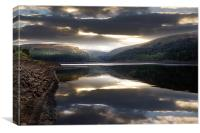 Moody Dawn over the Clough, Canvas Print