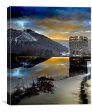 Winter comes to Howden, Canvas Print