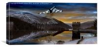 Vulcan Thunder over Howden, Canvas Print