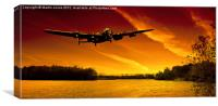 Lancaster Merlin Dawn, Canvas Print